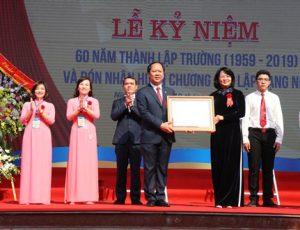 Trường THPT chuyên Lương Văn Tụy kỷ niệm 60 năm thành lập và đón nhận Huân chương Độc lập hạng Nhì